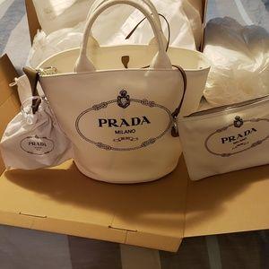 Authentic brand new Prada Canapa shopping tote